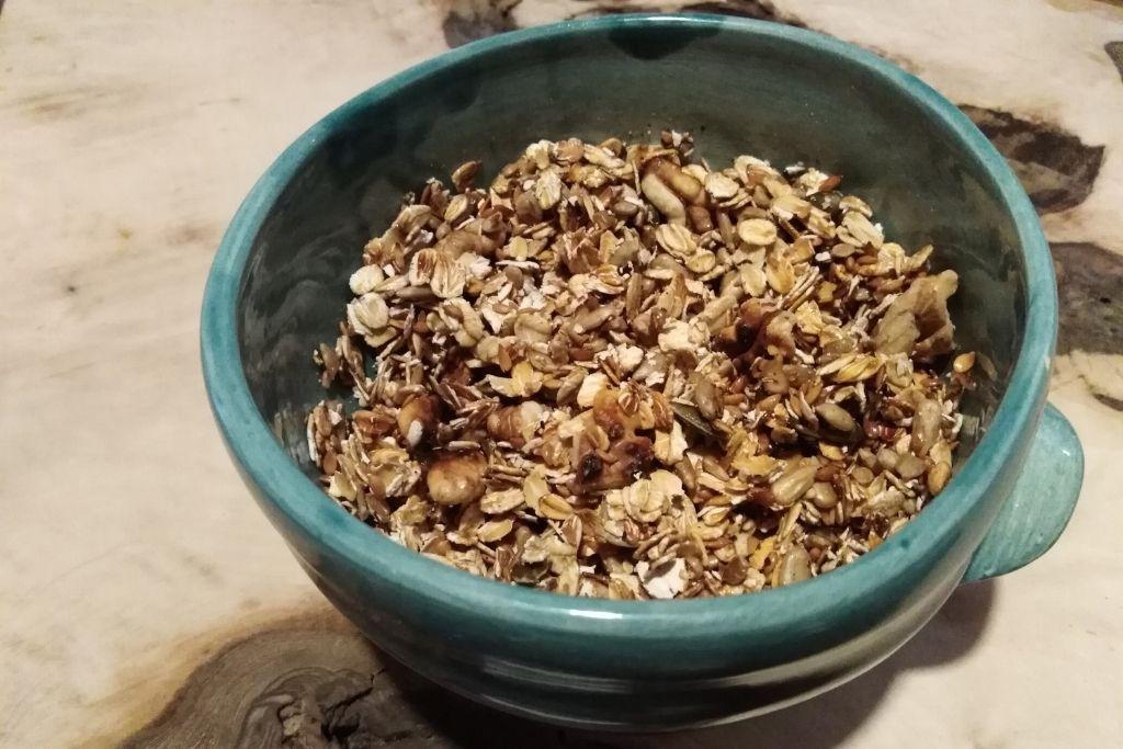 produit petit dejeuner flocon avoine et graine torrefiees au four solaire